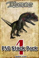Dinosaur PNG Stock Pack 1 by Alegion-stock