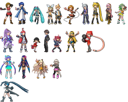 Vocaloid Pokemon Sprites by CherushiMetsumari