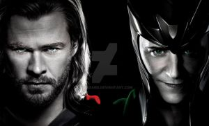 High Res Thor and Loki Background. by Allexaire