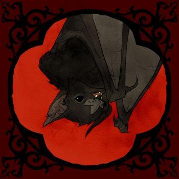 Drawlloween 2017 - Vampire Bat by AbigailLarson