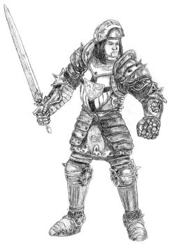 Paladin Front by Cruit