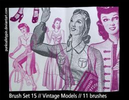 Brush Set 15 - Vintage Models by punksafetypin