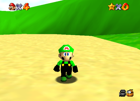 Me with my own color code in mario 64! :D by novastartherapter