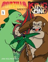 Godzilla meets King Kong Cover graphic #1 by Koku-chan