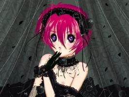 Shuichi as a Gothic Lolita by fayharuno