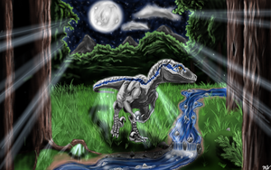 Midnight Hunt (Jurassic World *Blue*) by WhenBooksFly101