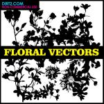 Floral Silhouette Vector Pack by KeepWaiting