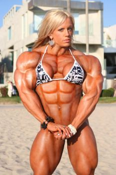Female muscle 14 by BigDane