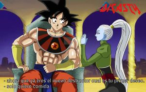 El dios Destructor Son goku y Vados by dicasty1