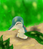 cyndaquill in the forest by thelongdreamer