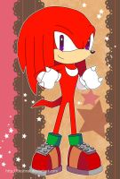 Sonic Postcard - Knuckles by Crystal-Ribbon