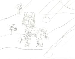 Captain Thunderhoof- Bare essentials (uncoloured) by Maverickhunter2