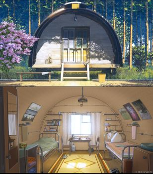 Summer camp home Out and In by arsenixc