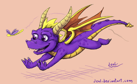 Spyro the Dragon by JenL