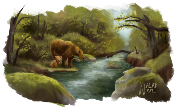 Fishing Bear by Nalak-Bel