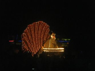 Mickey at the Nighttime Parade by kngdmhrts2