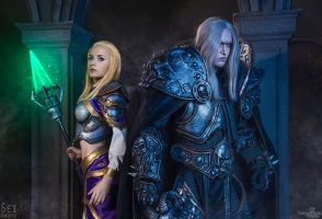 Arthas and Jaina cosplay - World of Warcraft by Aoki-Lifestream