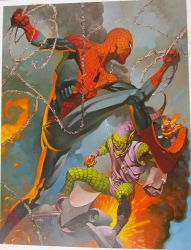 Spidey battles Gobby by ChristopherStevens