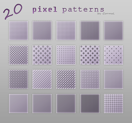 Pixel patterns by Gormal