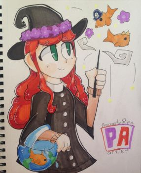 Goldfish Witch by Procrastin8ingArtist