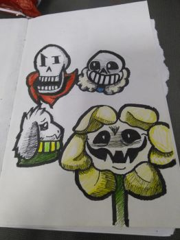 UnderTale drawings by LavaGaleProduction