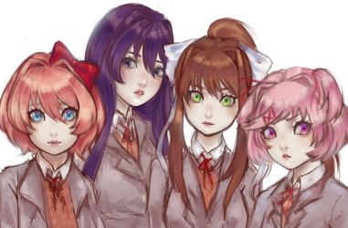 : Doki Doki Literature Club : by Rotami