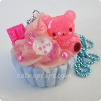 Colorful Candy Bear Necklace by CatNapCaps