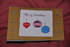 Christmas Baubles by VickitoriaEmbroidery