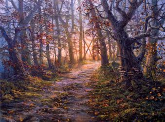 forest road by VityaR83