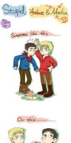 Stupid Merlin and Arthur by FoxChristy