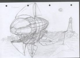 Jackal Airship Perspective view [WIP] by chaos-sandwhich