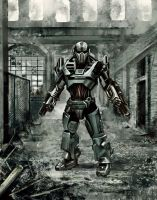 Robot post apocalyptic by PieroMng