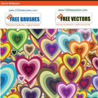 Vector Heart Wallpaper by 123freevectors