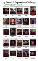 25 Expressions: Commander Riker by Master-Kat-Illusion