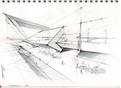 architectural sketch 1 by Mihaio