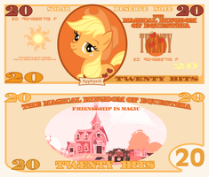 Applejack 20 Bits Bill by cradet
