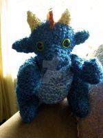 Loom Knitted Dragon by ScarlettRoyale