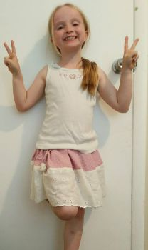 A skirt I sewed for my little sister by KasMorino2468