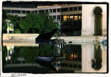 Piano On Water by LexartPhotos