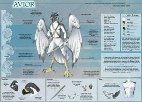 Avior - Character Sheet Commission by Ulario