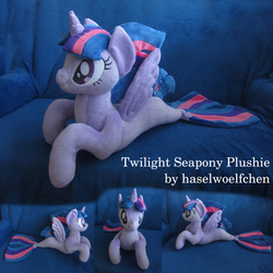Twilight Sparkle Seapony Plushie by haselwoelfchen
