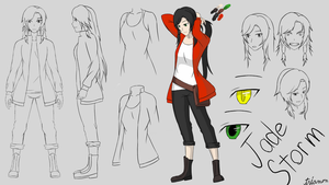 Jade pre 5 Year Character Reference Sheet by triamon