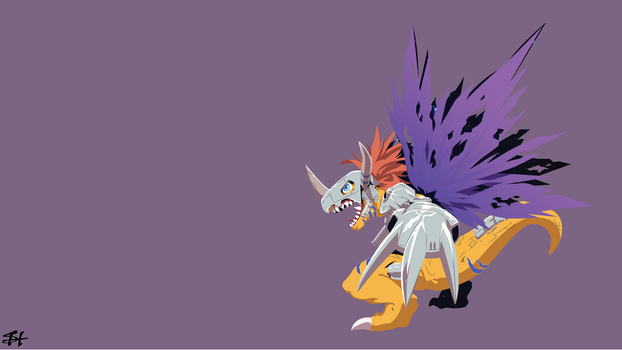 Metal Greymon (Digimon) Wallpaper by slezzy7
