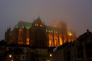 Cathedral in mist by MelieEinaleM