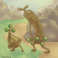 Sudowoodo and Bonsly