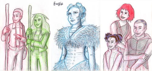 The Tribe - Character Sketches by SimonArty