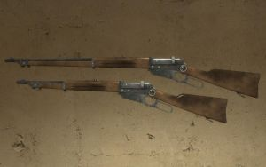 Battlefield 1 Winchester M1895 and Carbine by Portugueseotaku