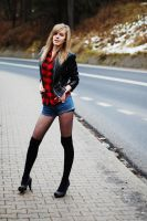 Hitch hiking by imallergictoyou
