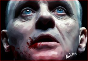 Hannibal Lecter / Anthony Hopkins by lianit