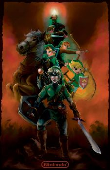 Legend of Zelda Timeline by J2Dstar